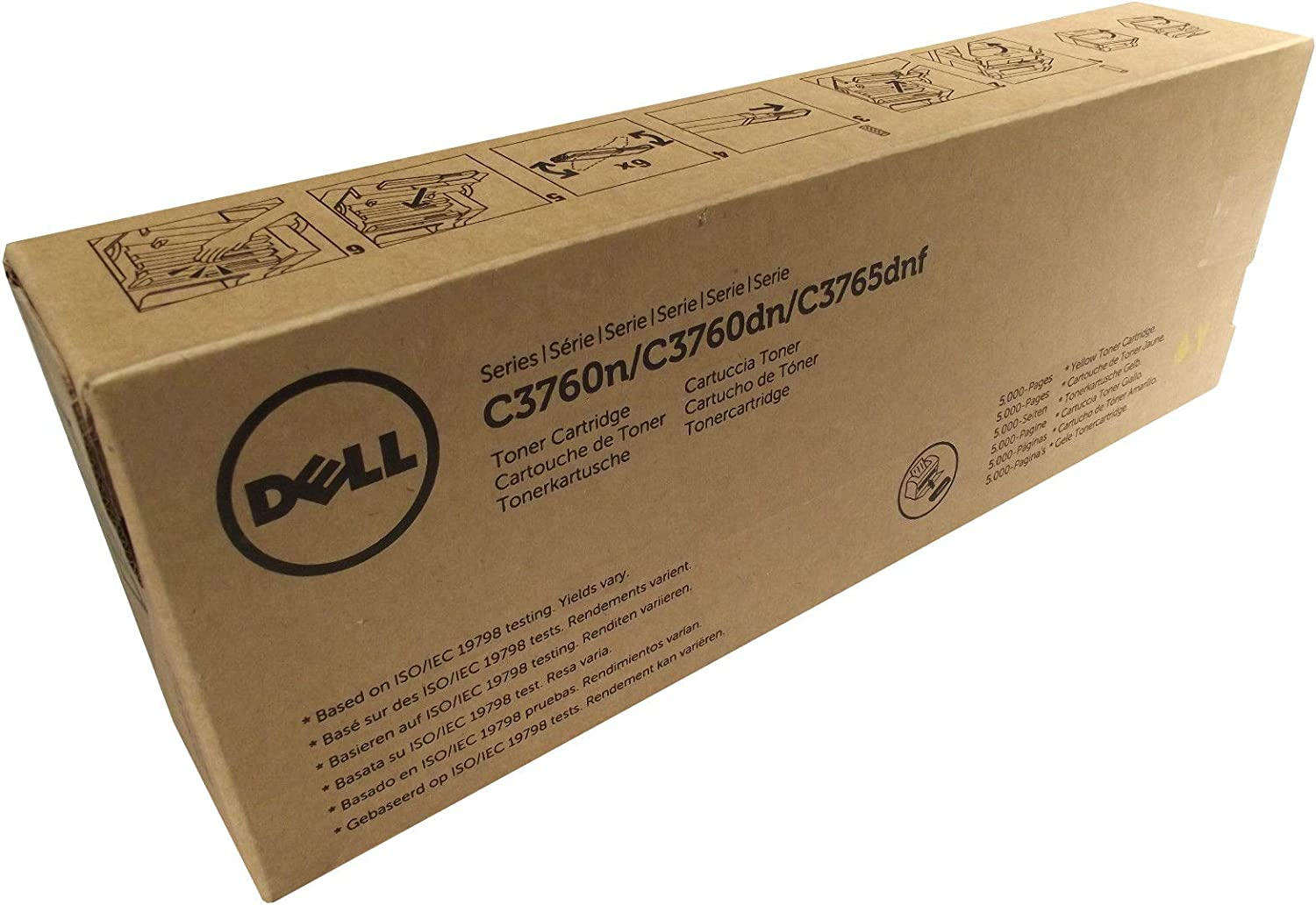 Dell Genuine W8D60 Extra High Yield Black Toner Cartridge for C3760n, C3760dn, C3765dnf Printers
