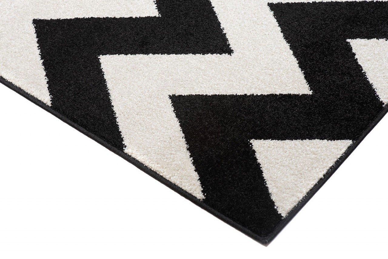 Läufer Teppich Teppich Teppich Brücke Teppichläufer - Modern Zic Zack - Flur Designer Muster Meterware - CasaWeißa Kollektion von Carpeto - Weiß Grau - 120 x 550 cm B079VGW2Y5 Lufer b785c6