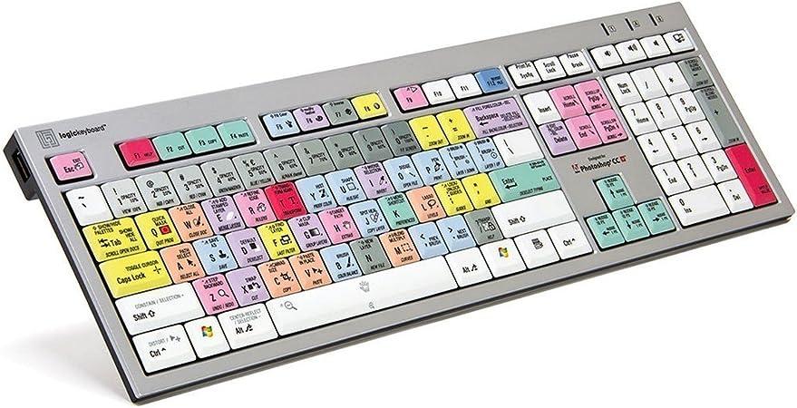 LogicKeyboard Adobe Photoshop CC American English Slim Line - Teclado para PC