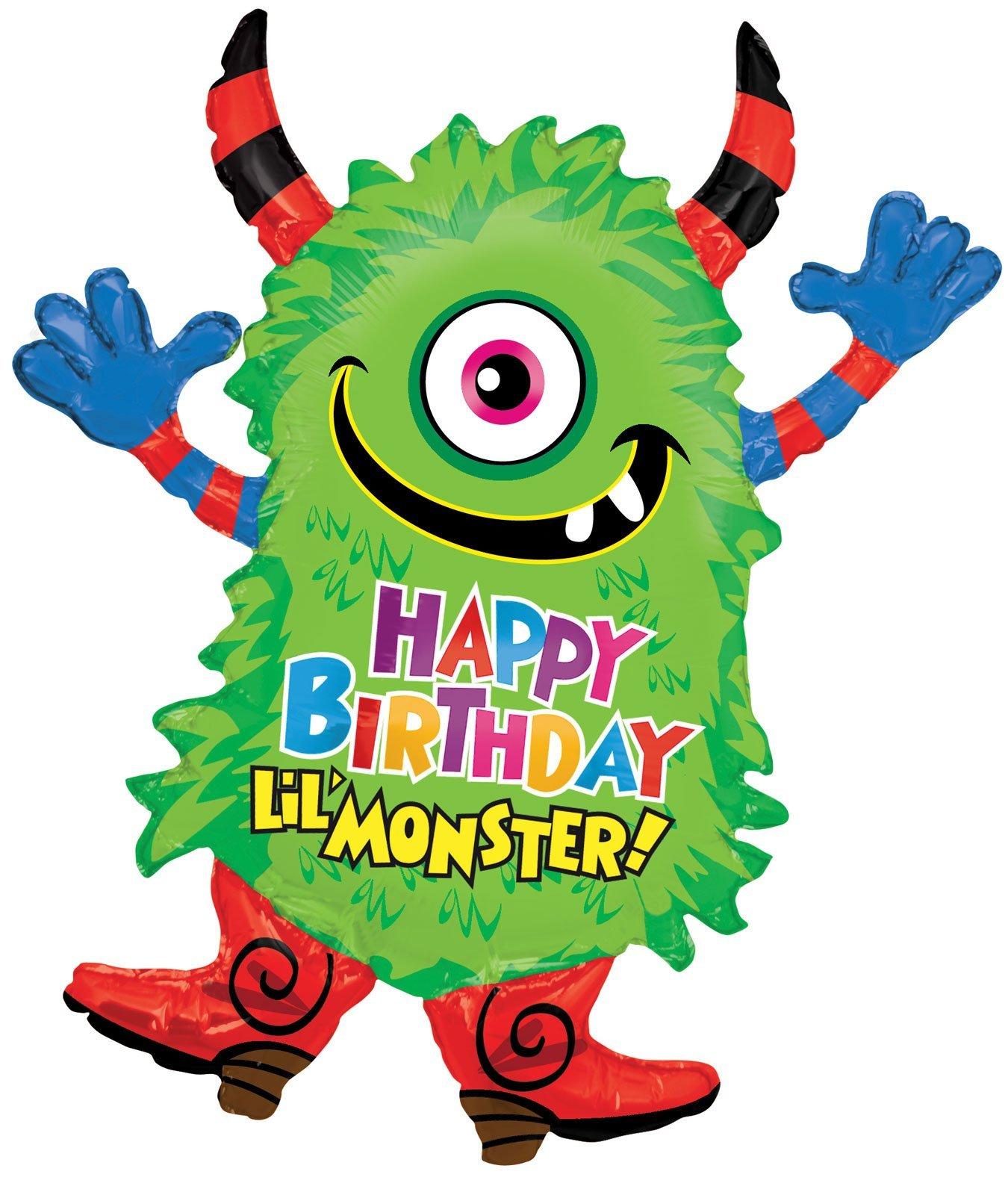Birthday Monster Jumbo Foil Balloon (Green) Party Accessory