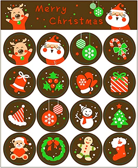 Gifts Decoration Christmas Stickers Adhesive Label Merry Christmas Seal Sticker