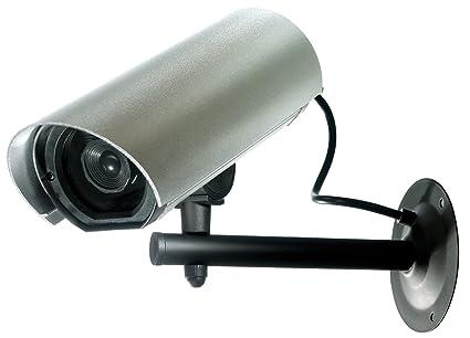 GEV T128009738 Aluminio Bala cámara de seguridad ficticia - Cámaras de seguridad ficticias (Bala,