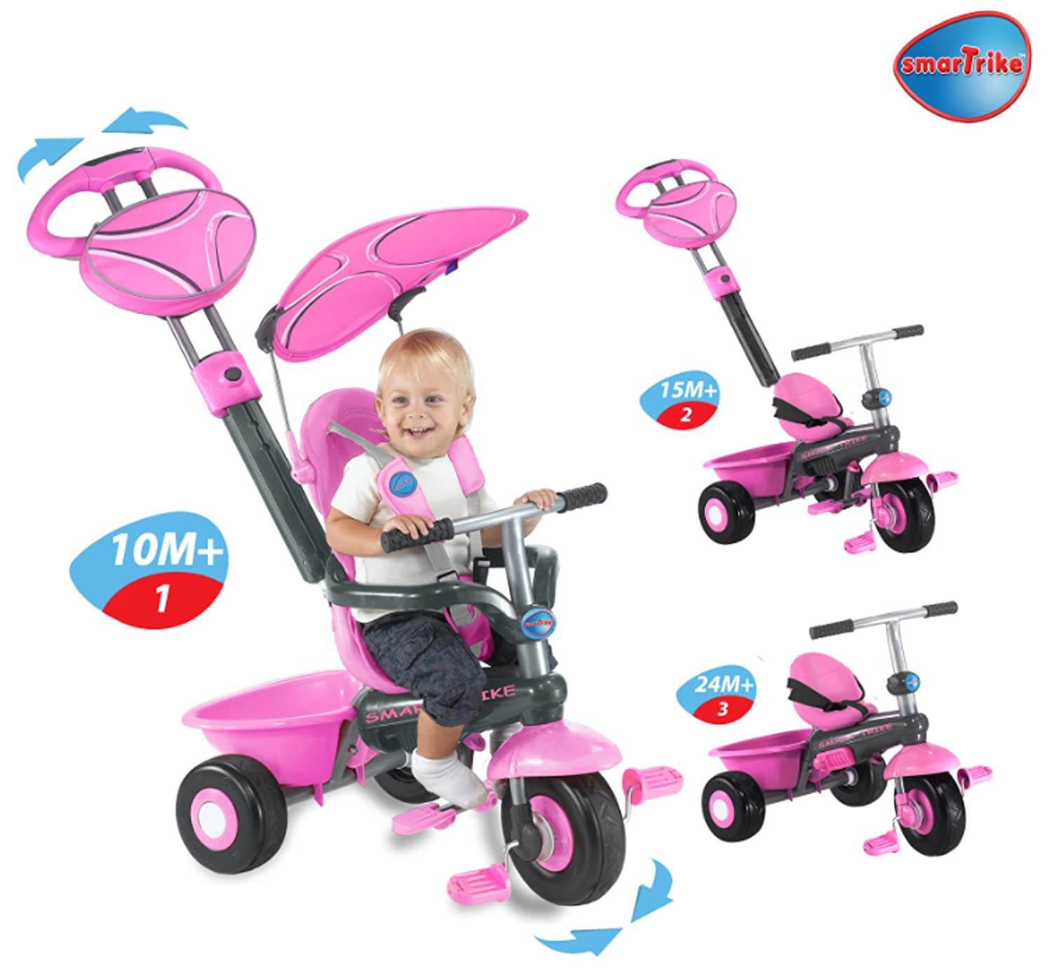 Amazon.com Smart Trike Sport 3-In-1 Kids Tricycle Color Pink Toys u0026 Games  sc 1 st  Amazon.com & Amazon.com: Smart Trike Sport 3-In-1 Kids Tricycle Color: Pink ...