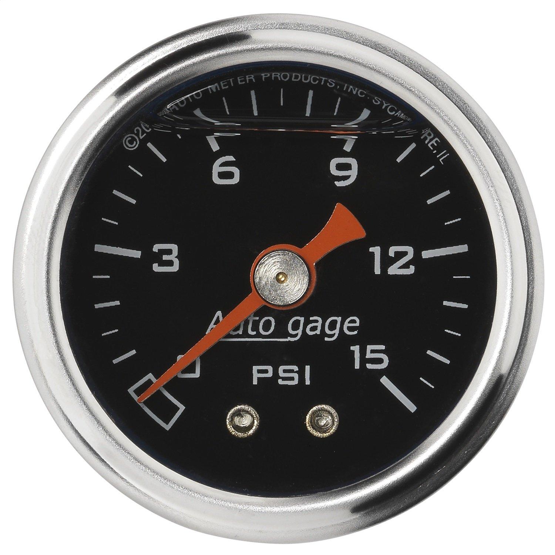 Auto Meter 2172 Auto Gage 1-1/2' 0-15 PSI Mechanical Fuel Pressure Gauge