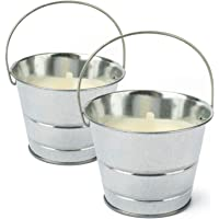 com-four® 2X Vela Anti-Mosquitos en Cubo de Metal
