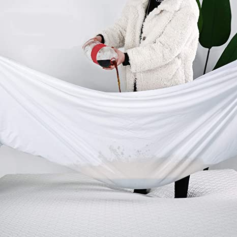 Waterproof Mattress Protector Poly Cotton Zipper Style Extra Deep Cover