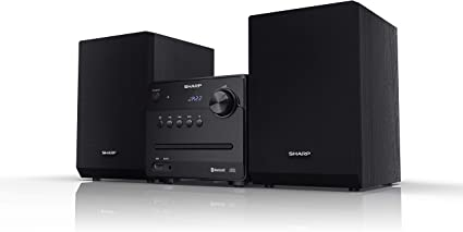 Oferta amazon: Sharp XL-B510(BK) - Microcadena Bluetooth, Radio FM, Reproductor de Audio USB, CD / CD-R / CD-RW, MP3, 3,5 mm Aux in, 40 vatios de Potencia, Altavoces de Madera para Mejor resonancia, Color Negro