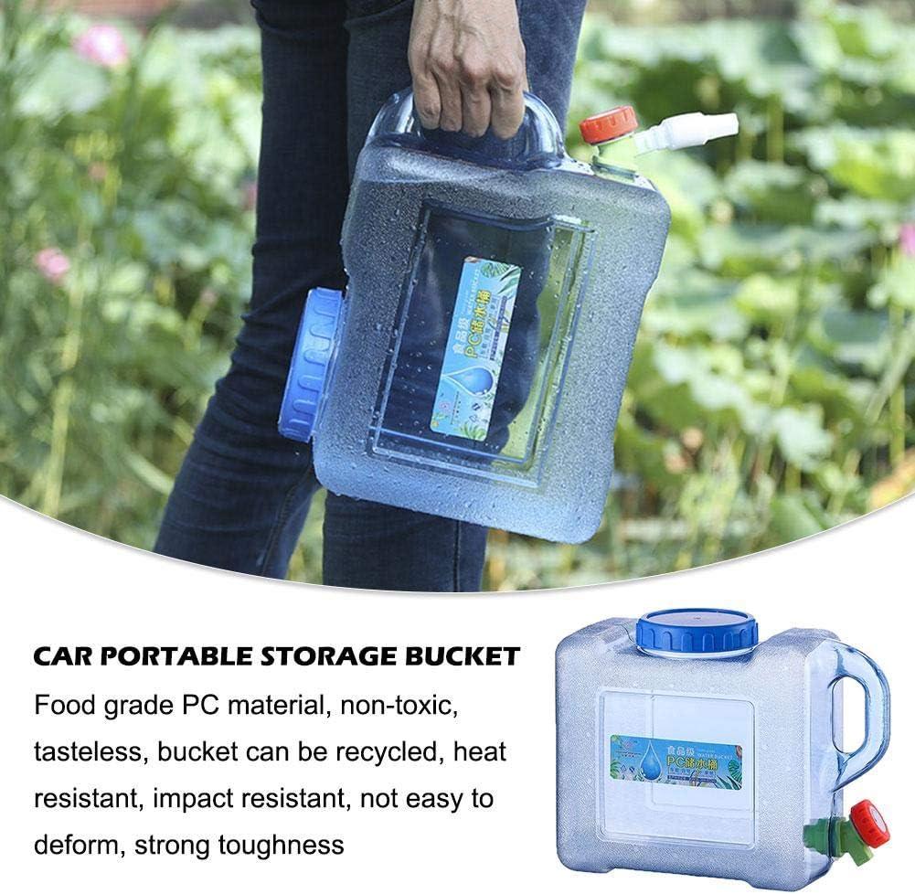 dewdropy 5L 8L Voiture Portable Poche Eau Contenant PC Visite Autonome en Plein Air avec Robinet Camping Baril Carr/é De Stockage en Plastique