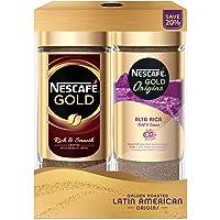 NESCAFÉ Gold Festive Pack (Nescafe Gold Instant Coffee 100g + Origins Alta Rica Instant Coffee 100g)