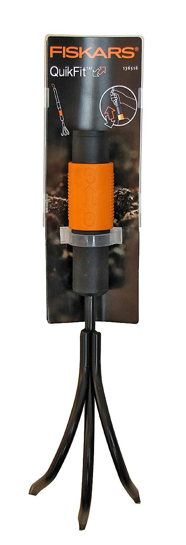 QuikFit Longueur: 33 cm Fiskars Griffe /à 3 dents Noir//Orange T/ête doutil QuikFit 1000685 Largeur: 9 cm Dents en acier au carbone