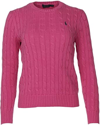 Polo Ralph Lauren Cable Knit Pull col en V Kimberly Turquoise