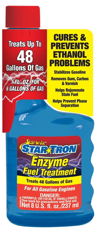 Star Tron Enzyme Fuel Treatment - Gas Formula 8 oz - Treats 48 Gallons