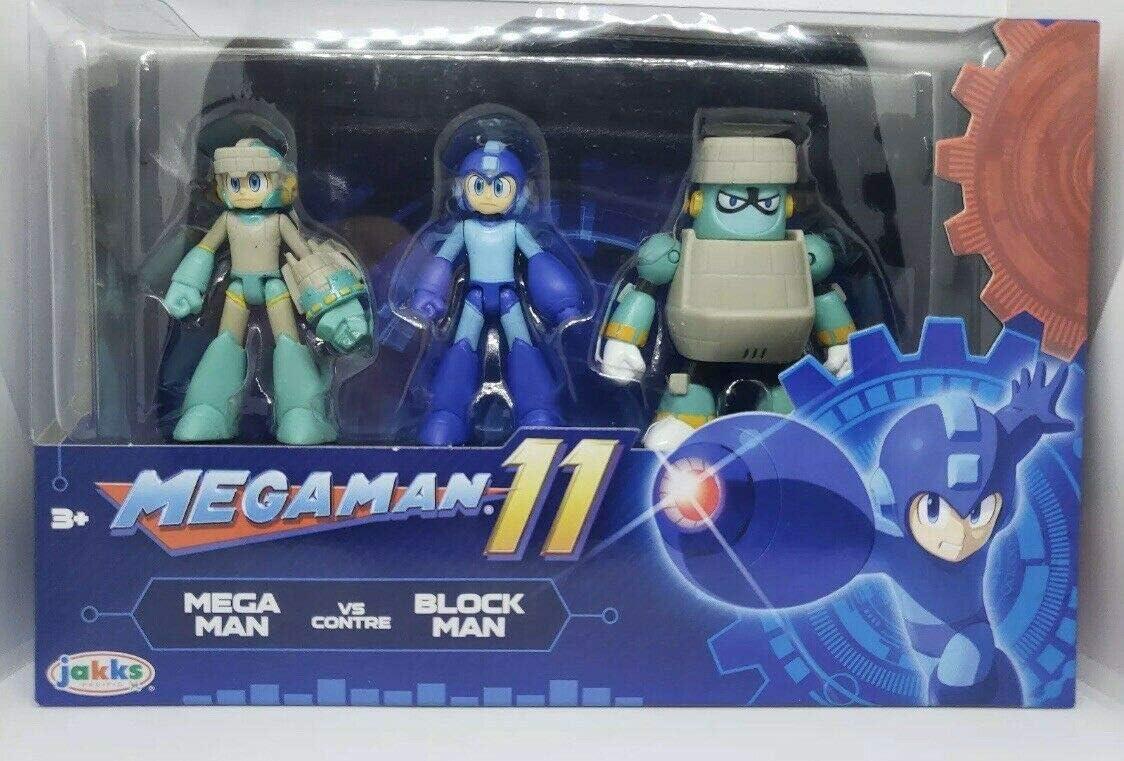 "MegaMan 11 Action Figure Set Mega Man vs Block Man 2.5/"" ~ Jakks pacific *NEW*"