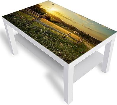 Dekoglas Ikea Lack Table D Appoint En Verre Avec Plateau En Verre