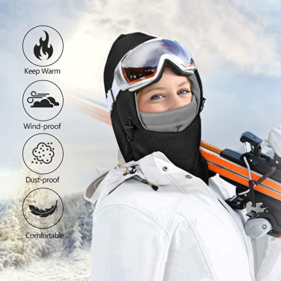 MOVTOTOP Fleece Warm Balaclava Face Mask Suit for Cycling Skiing Winter Windproof Full Ski Mask Neck Warmer for Men /& Women