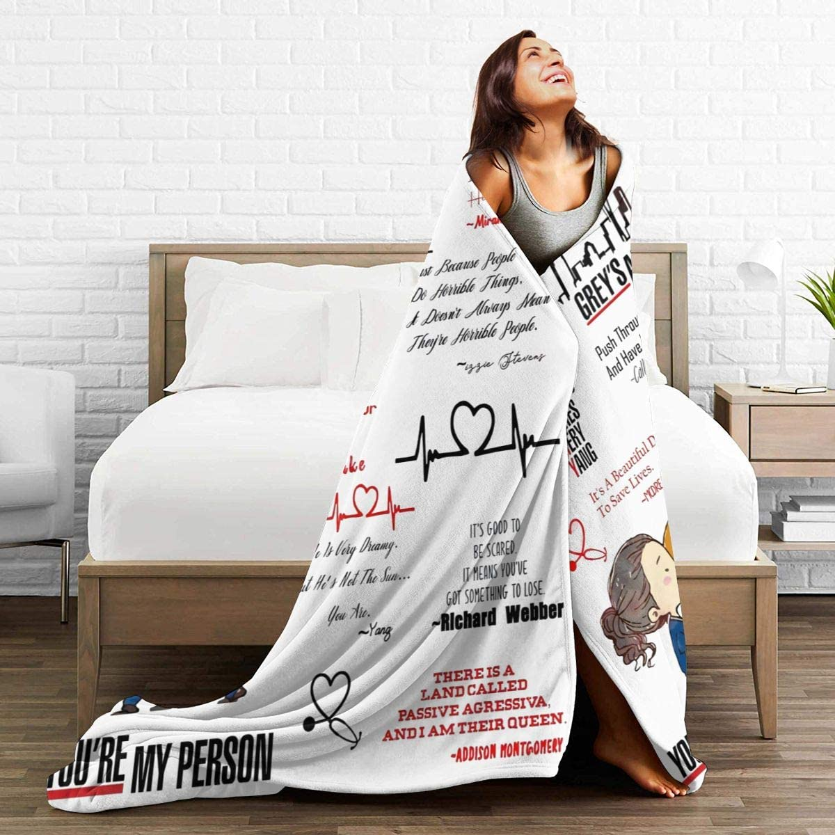 N \ A Greys Anatomy Youre My Person Couverture en micro polaire ultra-douce 127 x 102 cm