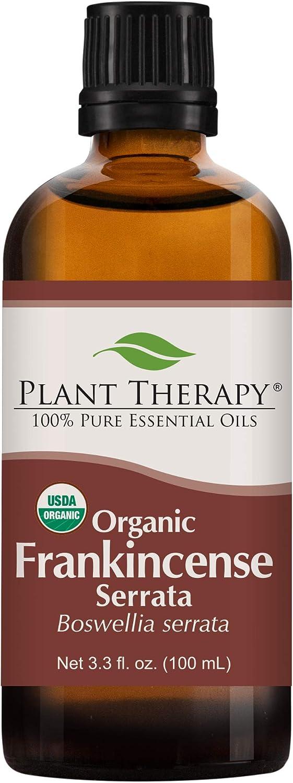 Plant Therapy Organic Frankincense Serrata Essential Oil 100% Pure, USDA Certified Organic, Undiluted, Natural Aromatherapy, Therapeutic Grade 100 mL (3.3 oz)