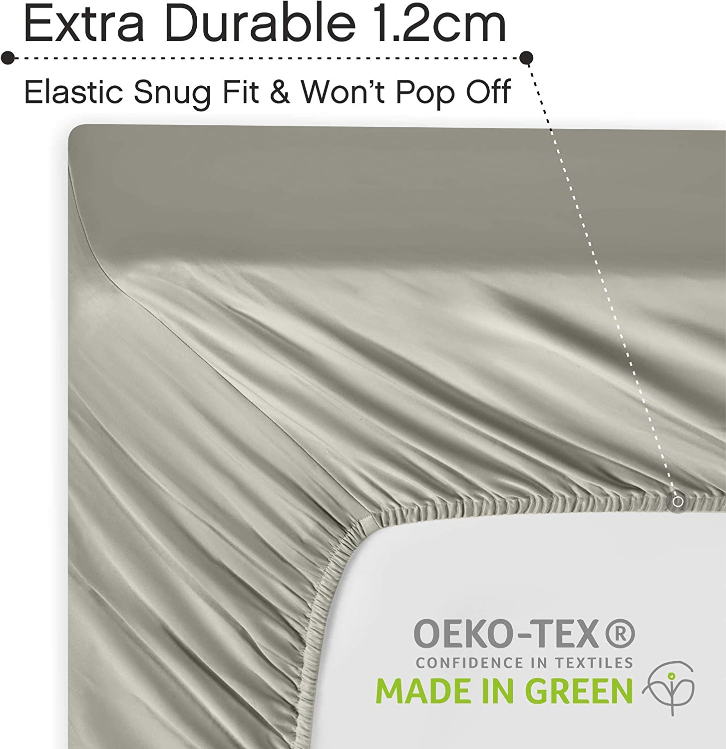 Elasticized Deep Pocket Fits Low Profile Foam and Tall Mattresses UMI Ivory Colour 400 TC Fitted Sheet 100/% Cotton Double Bed Sheet