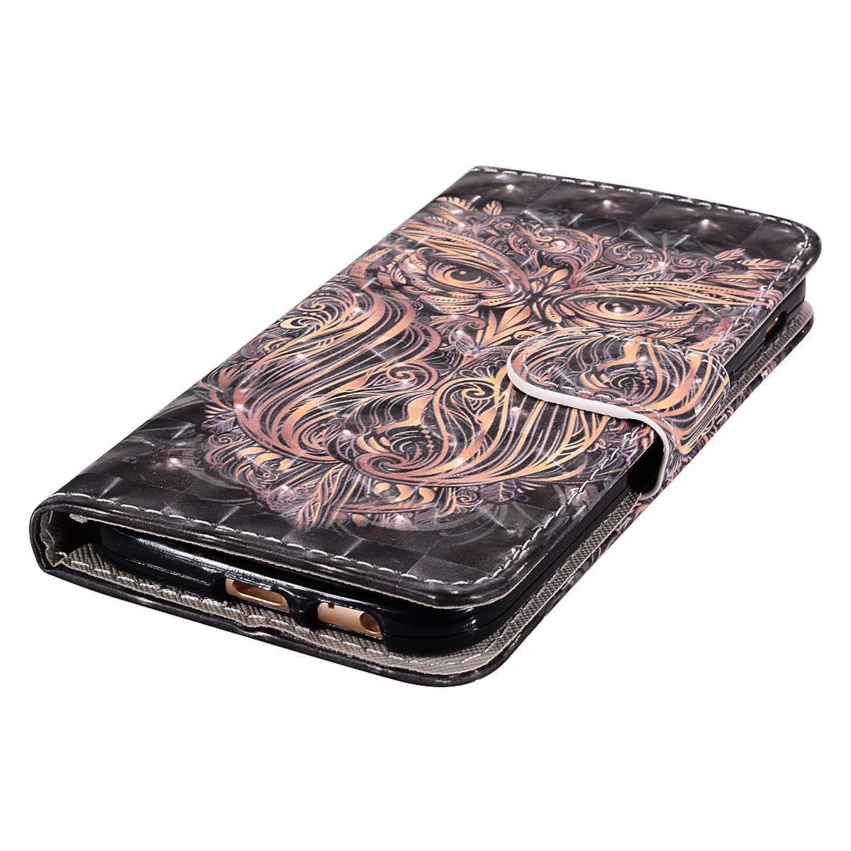 Felfy Kompatibel mit Galaxy A3 2017 H/ülle Tasche Leder PU Handyh/ülle 3D Creative Bunt Muster Leder Wallet Case Flip Cover Klapph/ülle Brieftasche Lederh/ülle mit Kartenf/ächer Sch/ädel