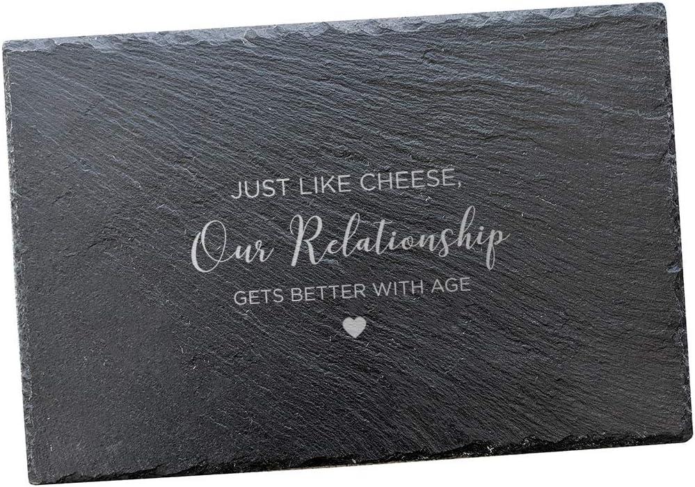 Regalos de aniversario para parejas/divertidos regalos de aniversario para hombres y mujeres/pizarra de queso 30 x 20 pizarra rectangular