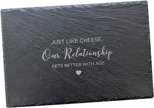 Regalos de aniversario para parejas/divertidos regalos de aniversario para hombres y mujeres/pizarra de queso 30 x 20 pizarra rectangular: Amazon.es: Hogar
