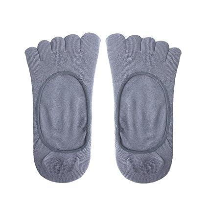 Footful Algodón Cinco Dedos Toe Calcetín Calcetines Invisibles Para Las Mujeres Grises