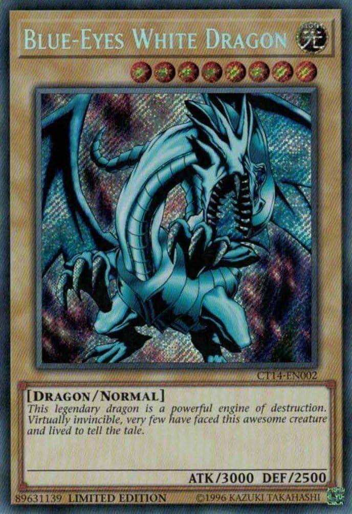 Blue-Eyes White Dragon,SECRET,CT14,Limited Edition,NM,Yugioh,Barngeys