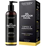 Gel Limpiador Facial con Vitamina C + Vitamina E + Aloe Vera - 80% Ingredientes Naturales- Limpiador Profundo Facial -Baja Es