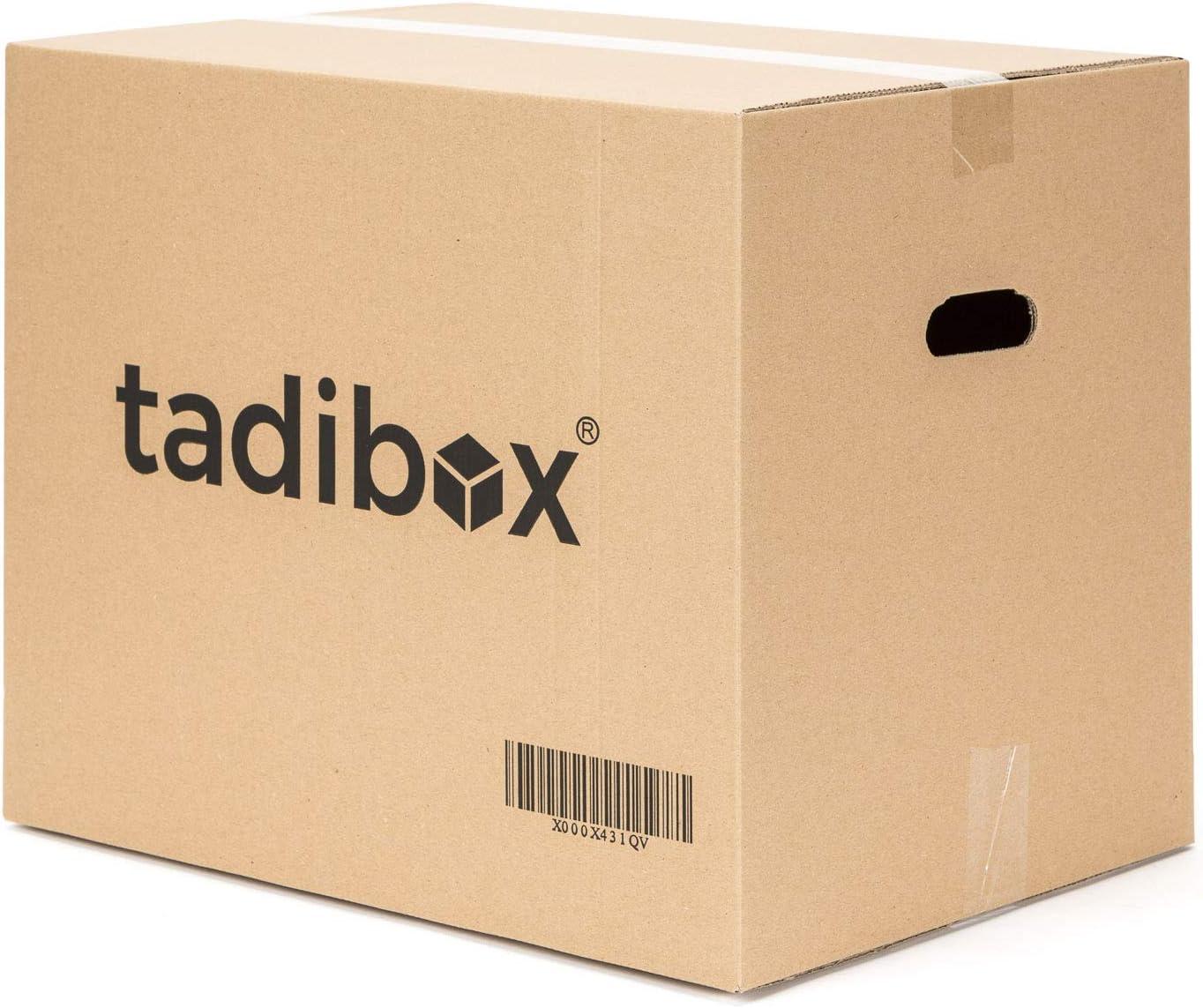 6 Cajas de Cartón para Mudanza (Talla XL) con Asas - Extra Resistentes Fabricadas en España - 55x35x40cm Canal Doble Alta Calidad Reforzado - Combinalas (M/L/XL) y optimiza tu mudanza!