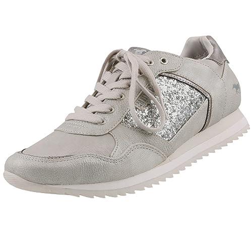 Mustang - Zapatillas de casa Mujer , color plateado, talla 38 EU: Amazon.es: Zapatos y complementos