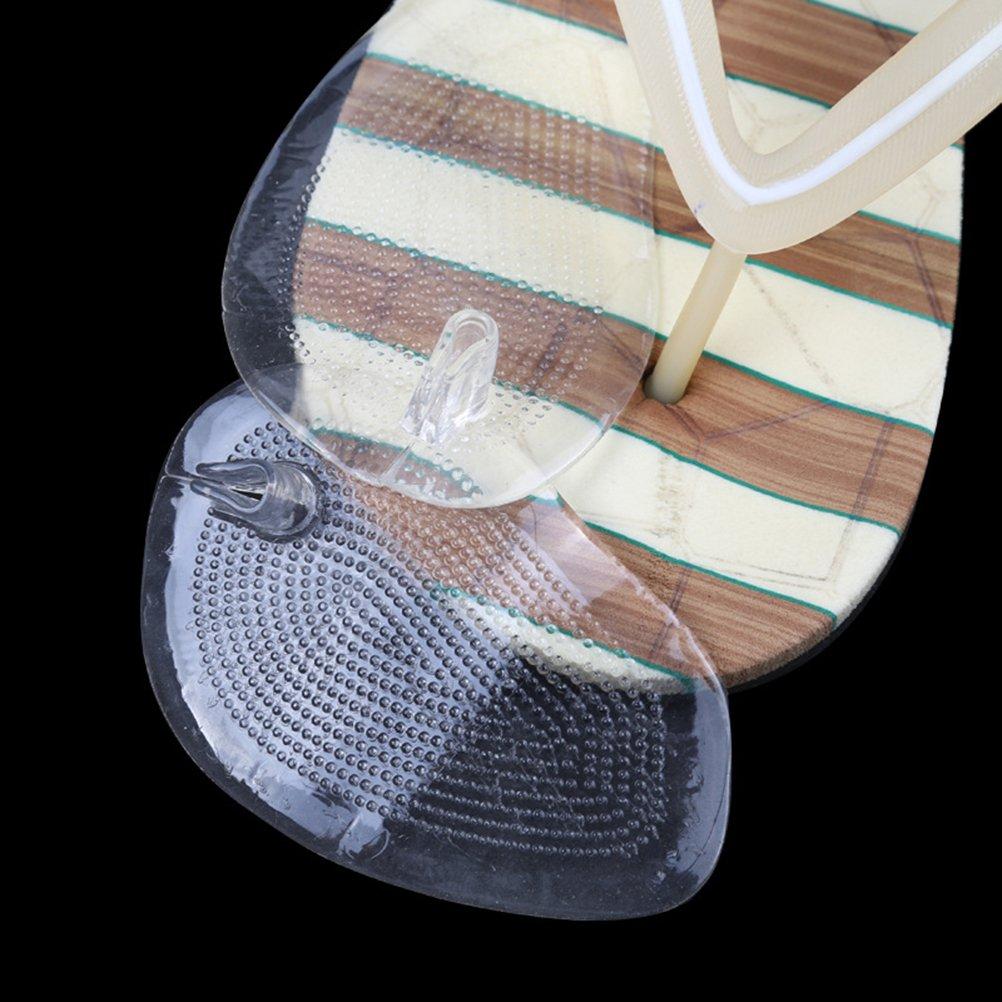Rosenice 2/paires Coussinets en gel de silicone souple de protection pour orteils pour String Sandales Gel inserts gardes Chaussures /à semelles Coussinets de prise en main