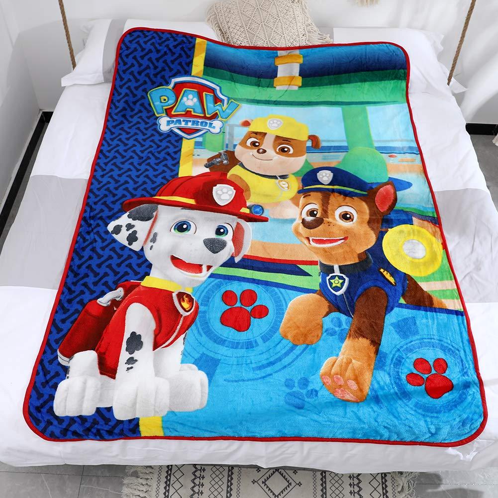 2, 50x60 FairyShe Kids Fleece Blanket Baby Plush Blanket Cartoon Soft Warm Fuzzy Blanket Plush Sheet Coral Velvet Blanket for Bed Couch Chair Living Room