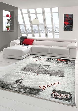 designer teppich moderner teppich wohnzimmer teppich istanbul ... - Wohnzimmer Grau Creme