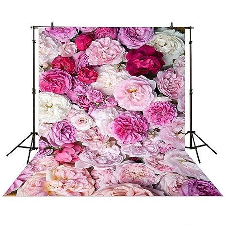 Amazon Com Allenjoy 5x7ft Photography Backdrop Floral Flower Wall
