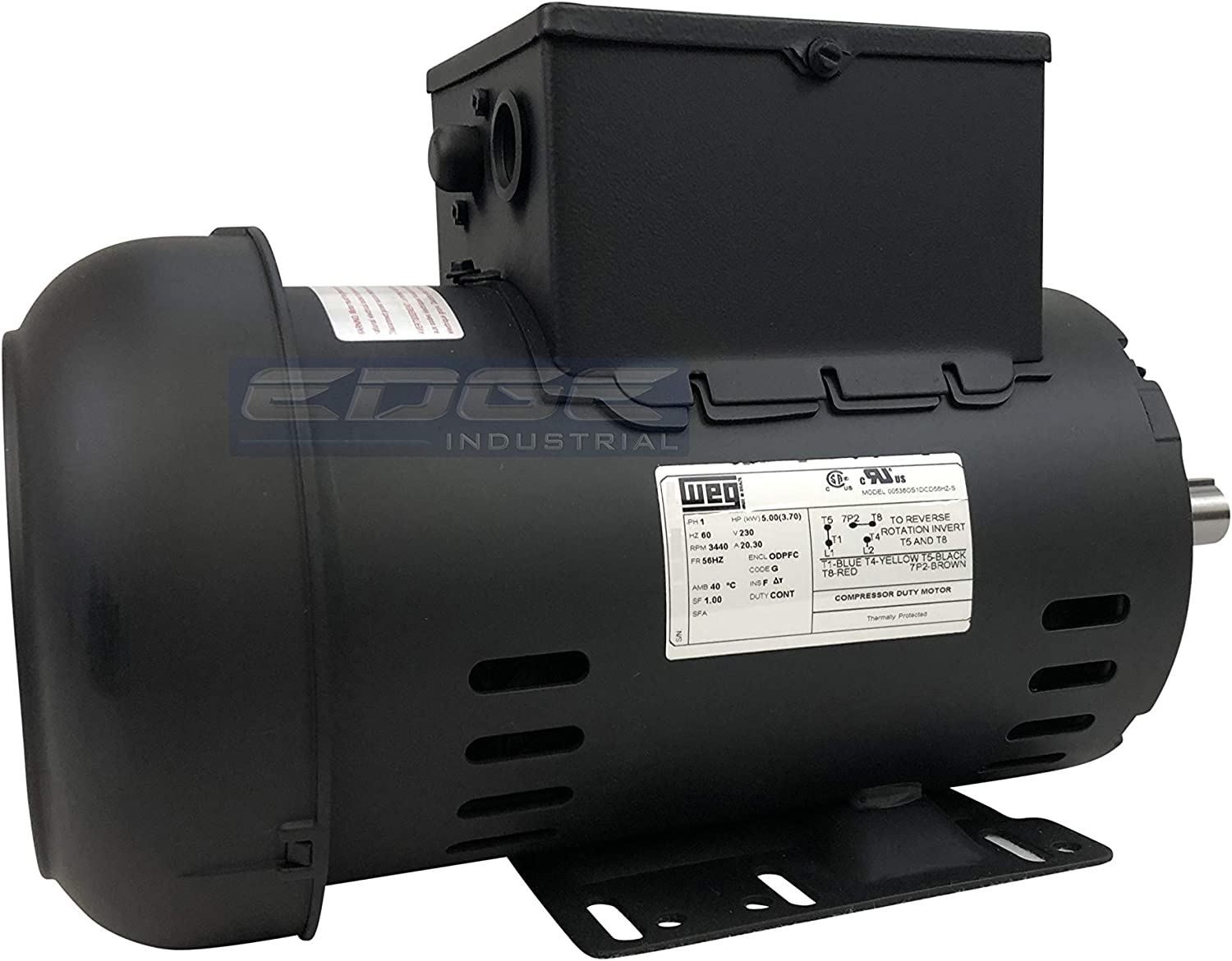 "5HP COMPRESSOR DUTY 230V 7//8/"" SHAFT MOTOR REPLACES 00536OS1CCDG56HZ"