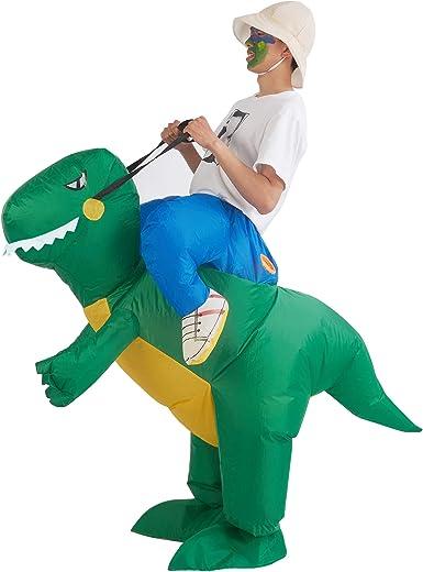 Amazon.com: Disfraz de dinosaurio inflable de Lulu Home, T ...