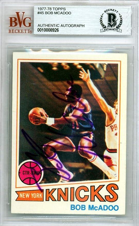 cf46ae3bcce Bob McAdoo Autographed 1977 Topps Card  45 New York Knicks Beckett BAS   10008926 -