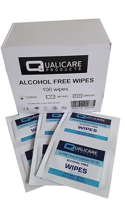 1 Caja De de 100 Sin Alcohol Toallitas Sterile Antiséptico Limpiador Mano o Facial Toallita