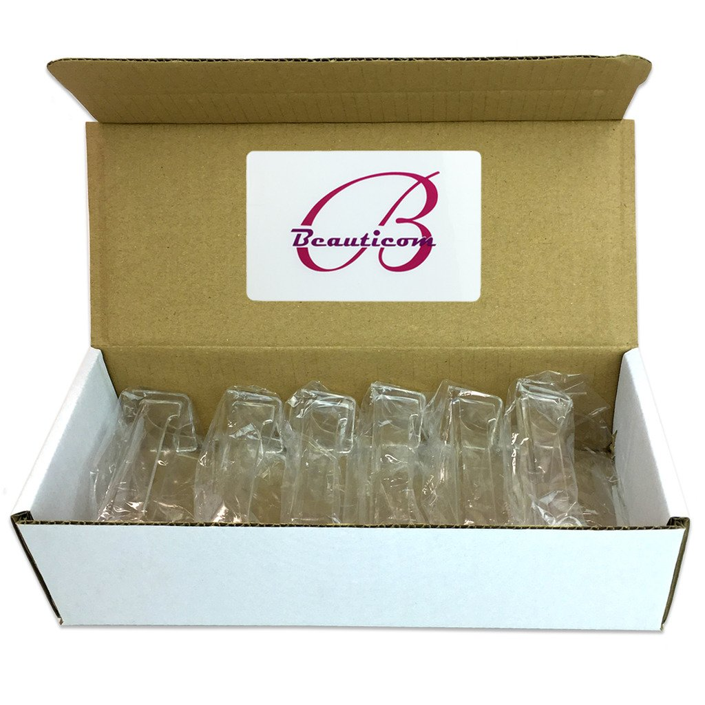 Beauticom 500 Pieces - Clear Plastic Business Card Holder Display Desktop Countertop (Style # 3)