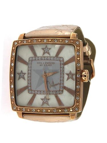 Hollywood Milano Reloj para Mujer con Caja de Acero, Correa de Piel Brillante Rosè referenza HM.6276ls/05: Amazon.es: Relojes