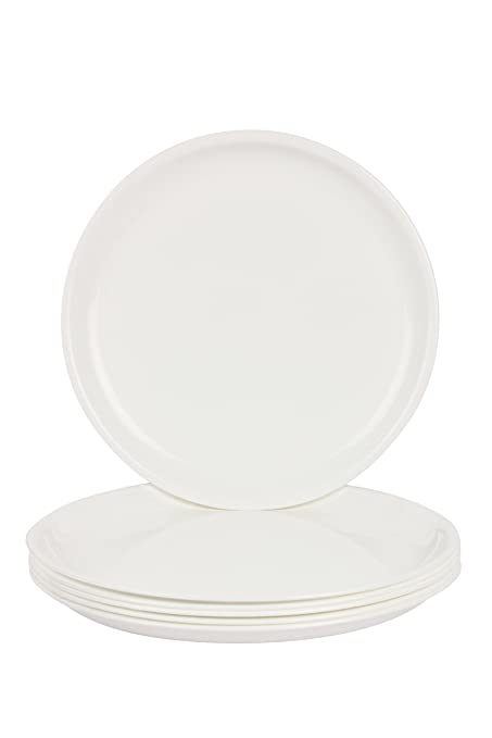 Day2Day Forever White Microwave Safe Dinner Plates Set Pack of 6 (27x27x2 cm)  sc 1 st  Amazon.in : microwave safe dinner plates - pezcame.com