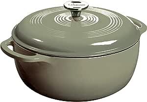 Amazon.com: Lodge Cast Iron Enameled Dutch Oven, 6 Qt