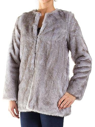 Carrera Jeans - Chaqueta P4821802A para mujer, color liso, pelaje ecológico, ajuste regular, manga larga