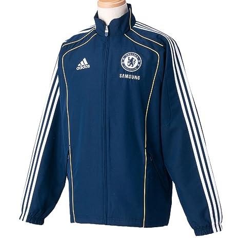 Adidas Chelsea Football Club de Fútbol para Hombre Chaquetas Track Tops Deportes Entrenamiento Fútbol Ropa Ropa