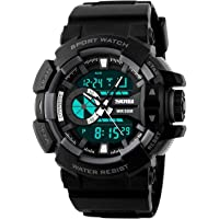 Skmei Analog-Digital Black Dial Men's Watch - 1117-Grey-02