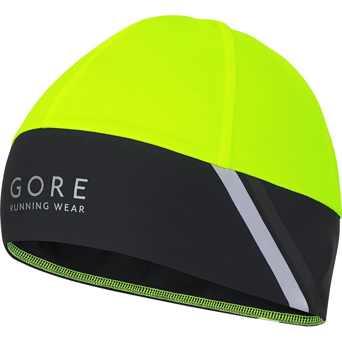 Gore Running Wear, Gorro de Correr para Hombre, Resistente al Viento, Selected Fabrics, Mythos 2.0 WS Amarillo/Negro Talla única HMYTBN089902