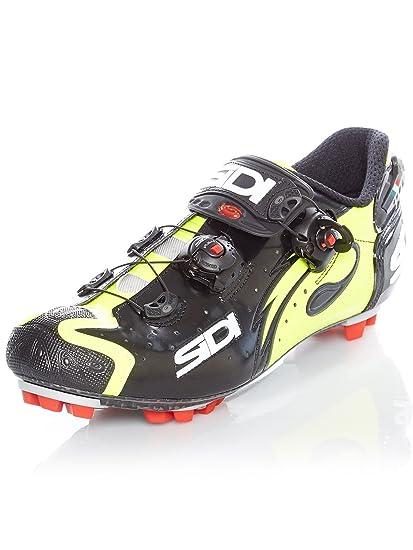 40467e9e3b6 Amazon.com : Sidi Drako Carbon SRS MTB Cycling Shoes - Black/Yellow ...