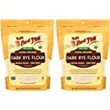 Bob's Red Mill 2 Organic Dark Rye Flour - 2 20 Ounce (1.25 lbs) Stand Up Resealable Bags
