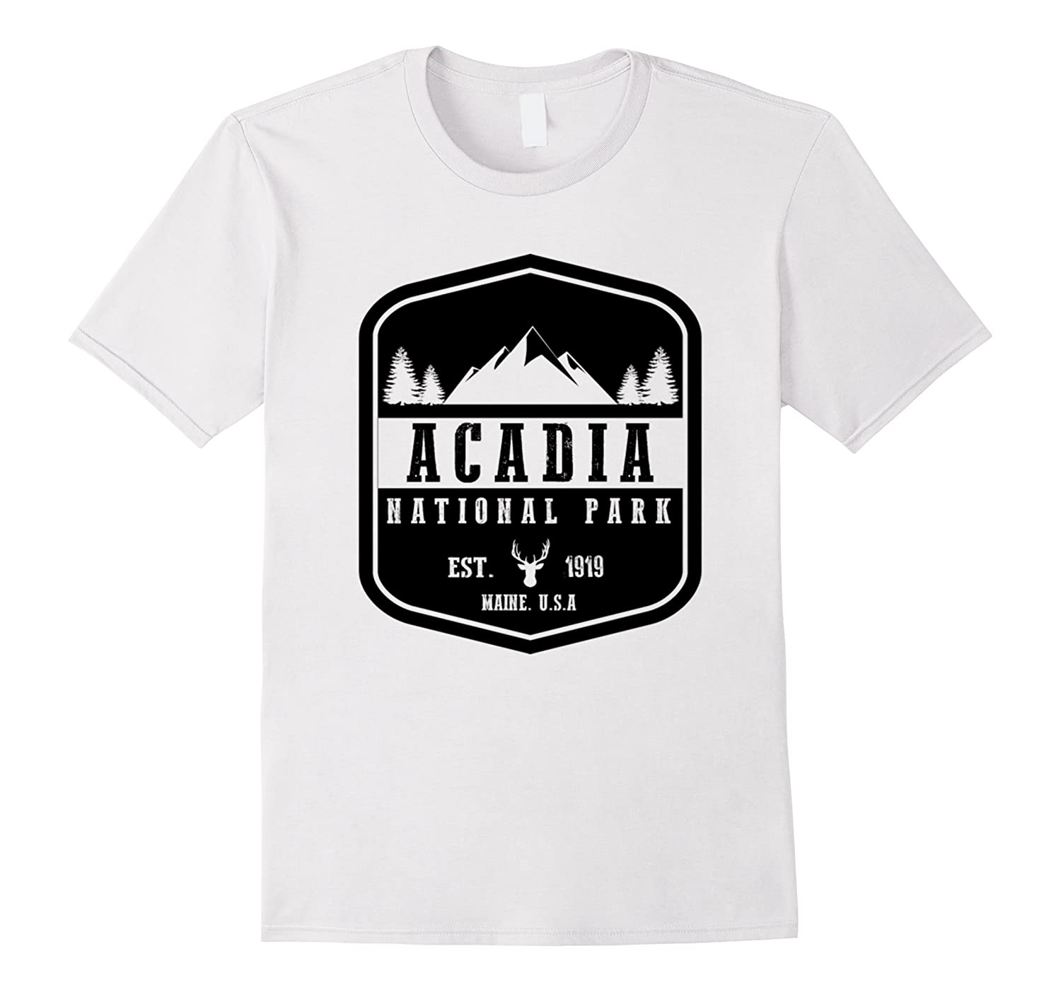 Acadia National Park T Shirt Maine Hiking Tee Wanderlust-TH