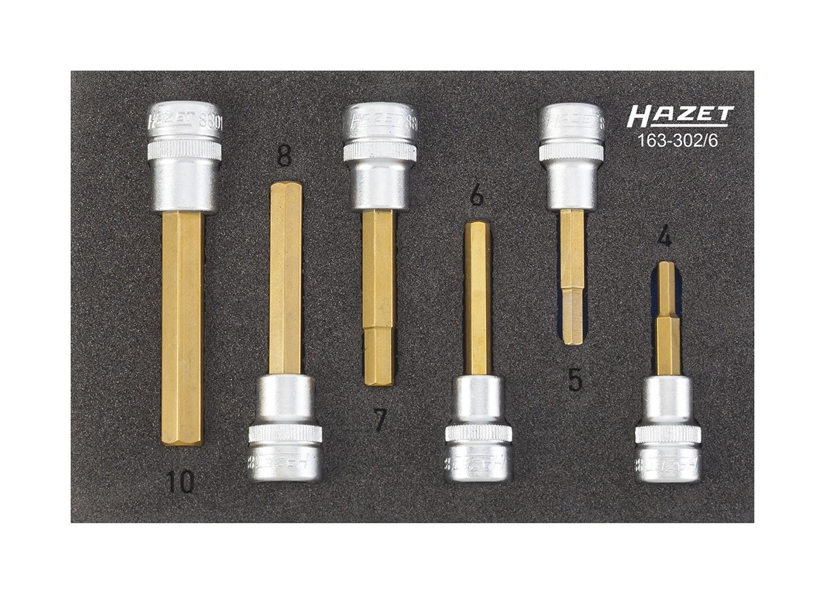 Hazet Screwdriver Socket Set, 163  302/6 163 302/6 163-302/6